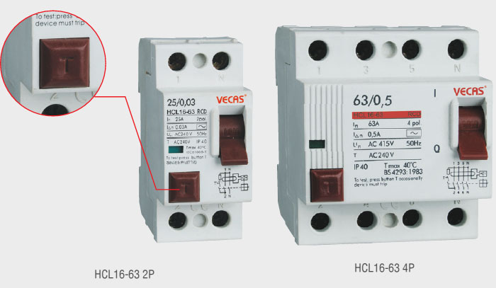 HCL16-63 Residual Current Circuit Breaker_HUAJIA ELECTRICAL (GROUP ...